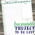 Free printable project to do list