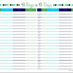 40 Bags in 40 Days free printable