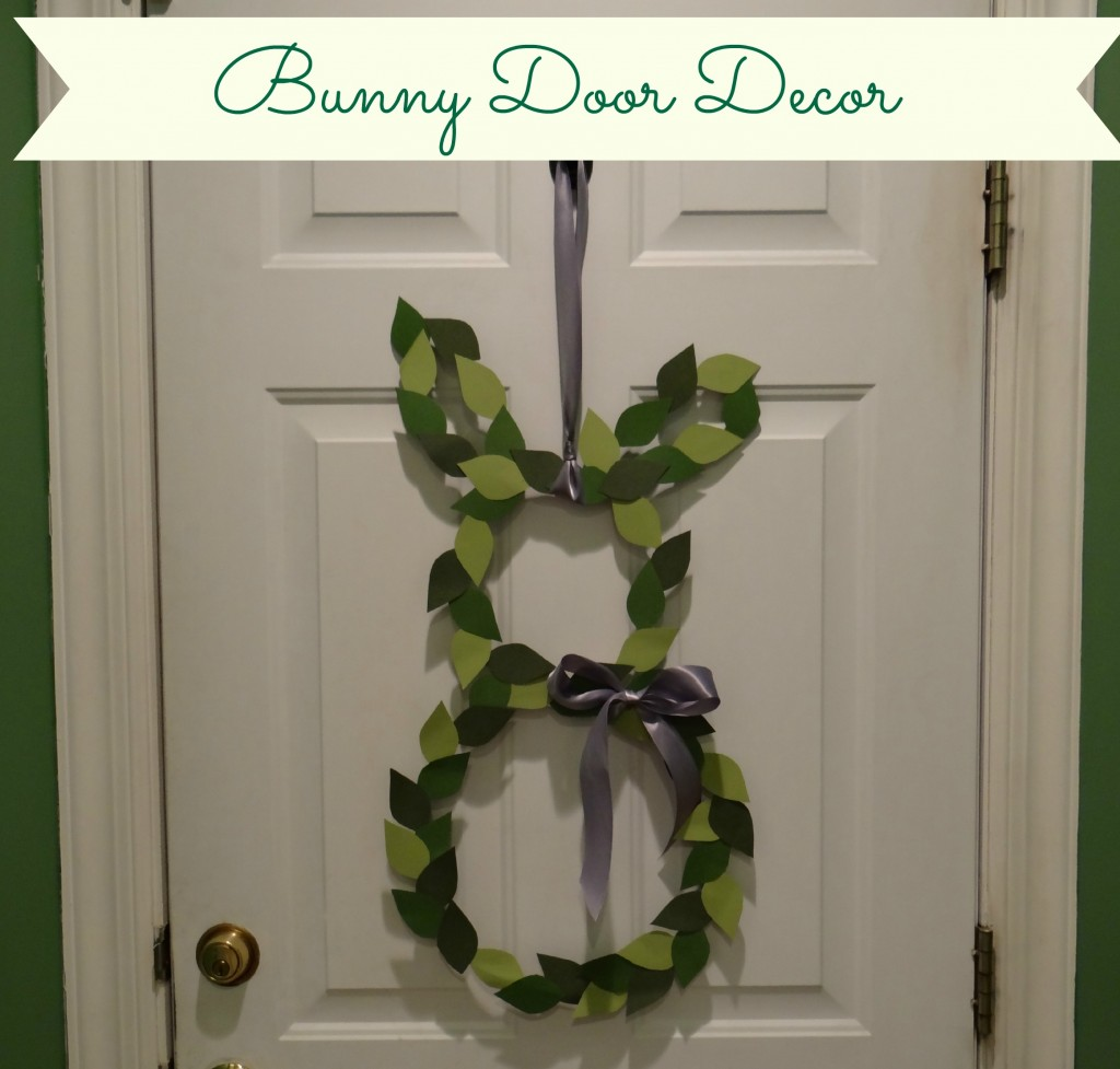 My Love for Words: Bunny Door Decor Reveal