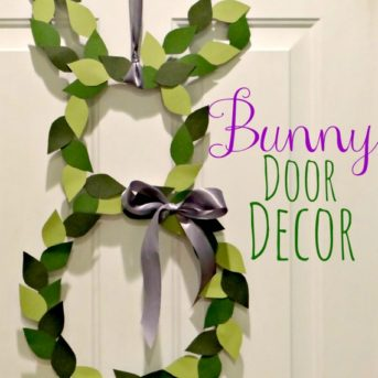 Easter Bunny Door Decor from My Love for Words