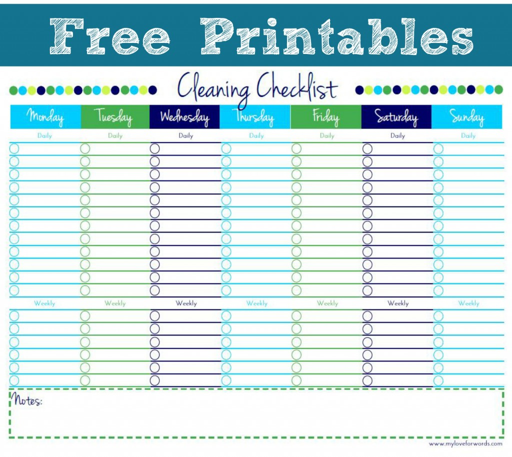 Free Printable Bathroom Cleaning Templates Just B Cause