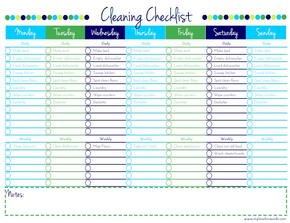 how to make a cleaning schedule - anuvrat.info