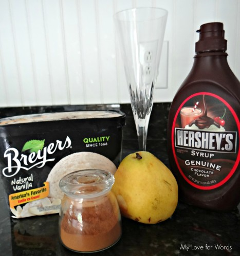 Ice Cream and Pear Parfait