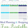 Meal Plan & Shopping List Printable