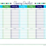 Blank Cleaning Checklist Printable