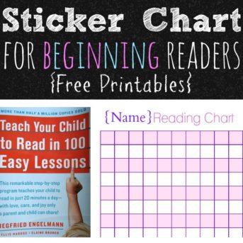 Sticker Chart for Beginning Readers