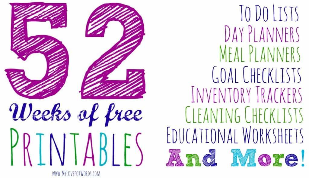 52 Weeks of Free Printables
