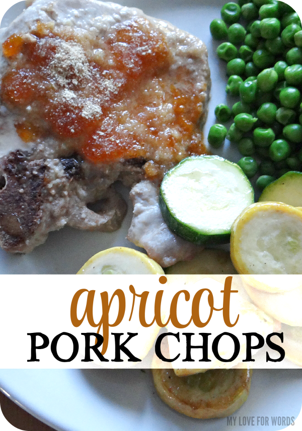 Easy and ridiculously delicious 3 ingredient apricot pork chops.