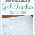 Monthly goal tracker