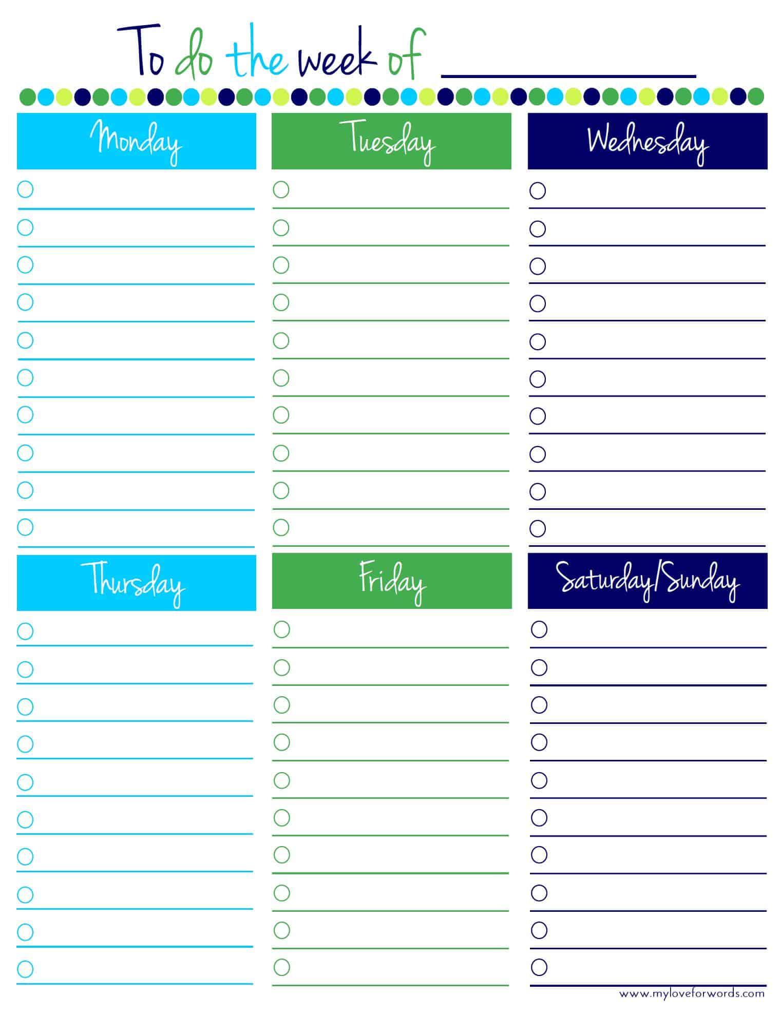 Freebie Friday: Weekly To Do List Freebie Friday: Freezer Inventory ...