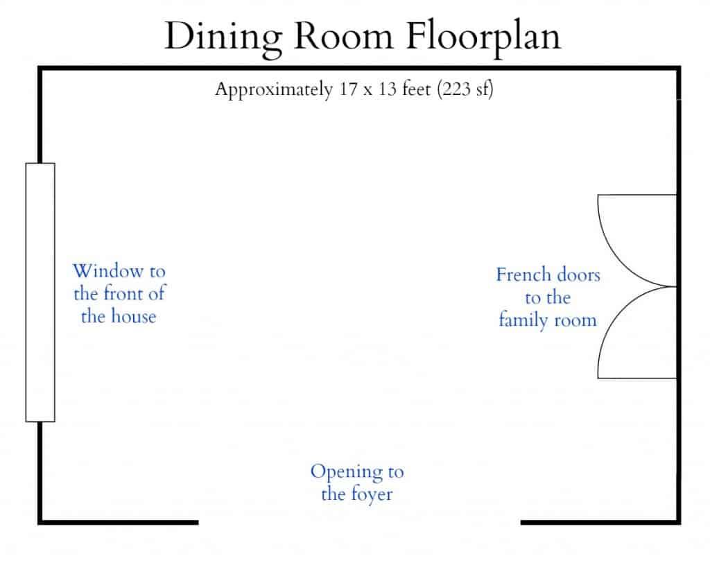 Dining Room Floorplan