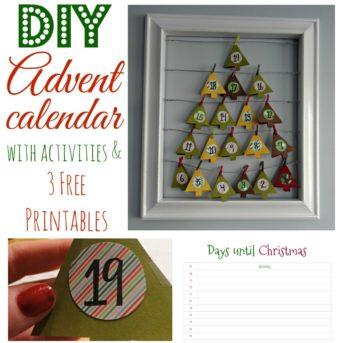 Advent Calendar with free printables