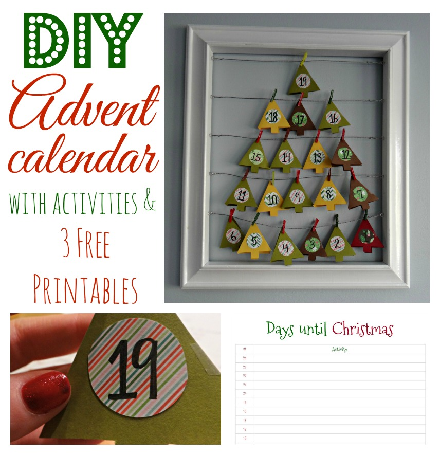 Advent Calendar with free printables