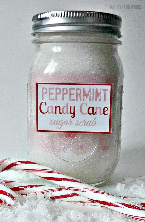 Peppermint Candy Cane Sugar Scrub diy recipe