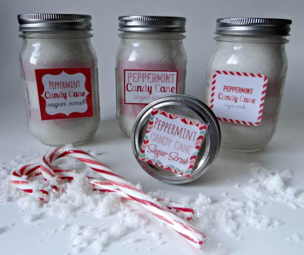 Peppermint Candy Cane Sugar Scrub