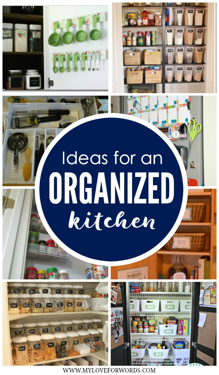 Ideas for an organized kitchen collage