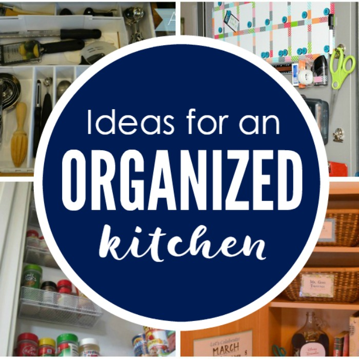 These are MUST TRY ideas for creating an organized kitchen! Great ideas for using space wisely and organizing all kitchen essentials.