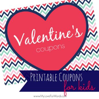 Printable Valentine Coupons for Kids