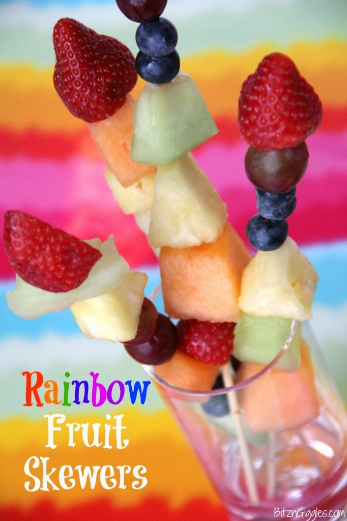 Rainbow Fruit Skewer