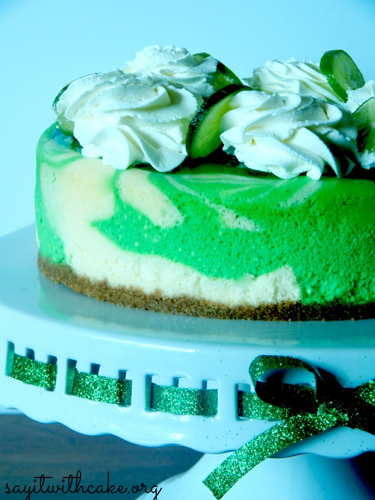 St. Patrick's Day Key Lime Cheesecake