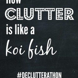 How Clutter is like a Koi fish