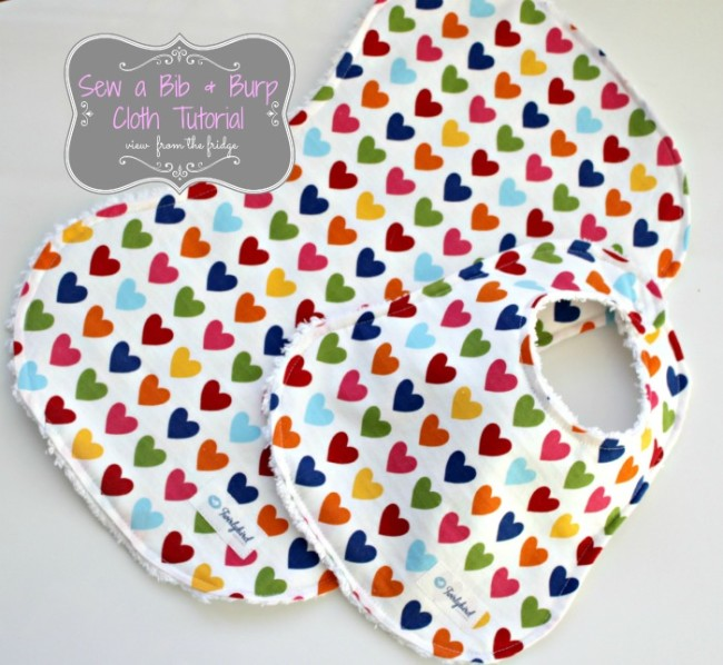 Bib and Burp Cloth Tutorial