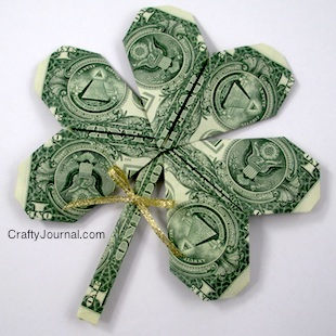 Shamrock Dollar Bill