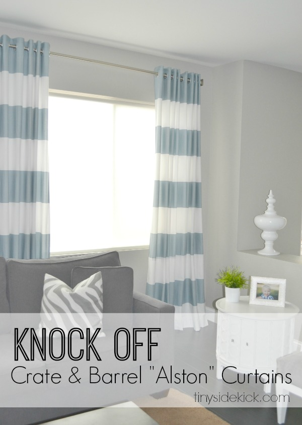 3.15.2014 Knock Off Crate and Barrel Curtains