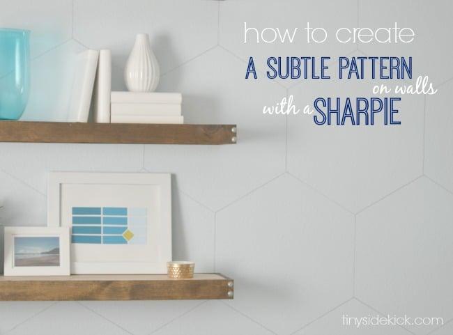 Subtle Sharpie Pattern