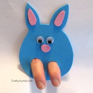 3.23.2014 Bunny Finger Puppet