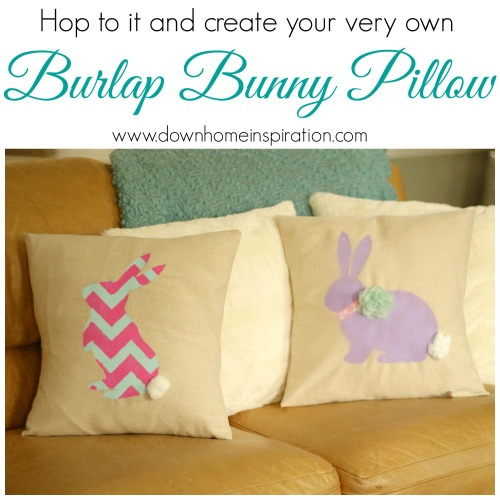 3.23.2014 Burlap Bunny Pillows 500x500