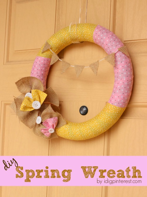 3.23.2014 DIY Spring Wreath 500x668