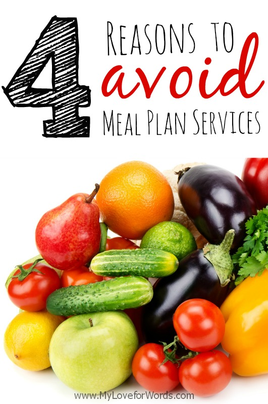4 Reasons to Avoid Meal Plan Services