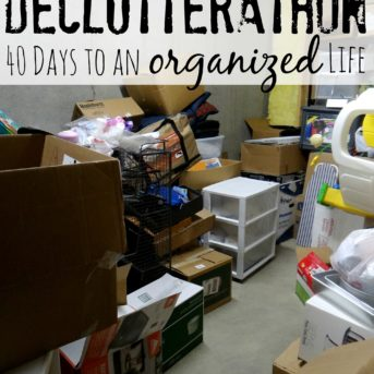Declutterathon: 40 Days to an Organized Life; 40 Bags in 40 Days