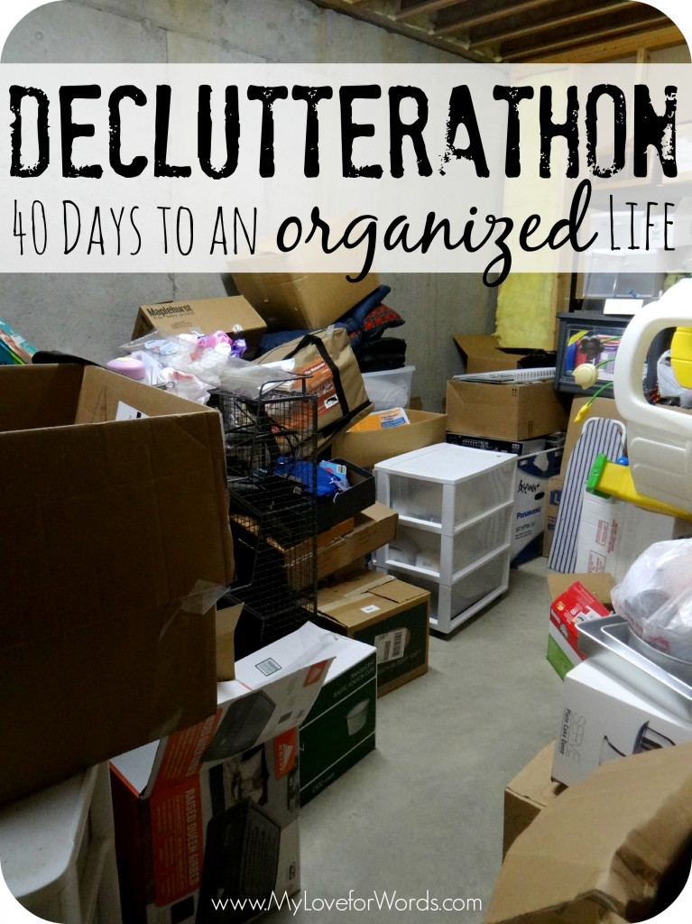 Declutterathon: 40 Days to an Organized Life; 40 Bags in 40 Days #40Bagsin40Days #Declutterathon