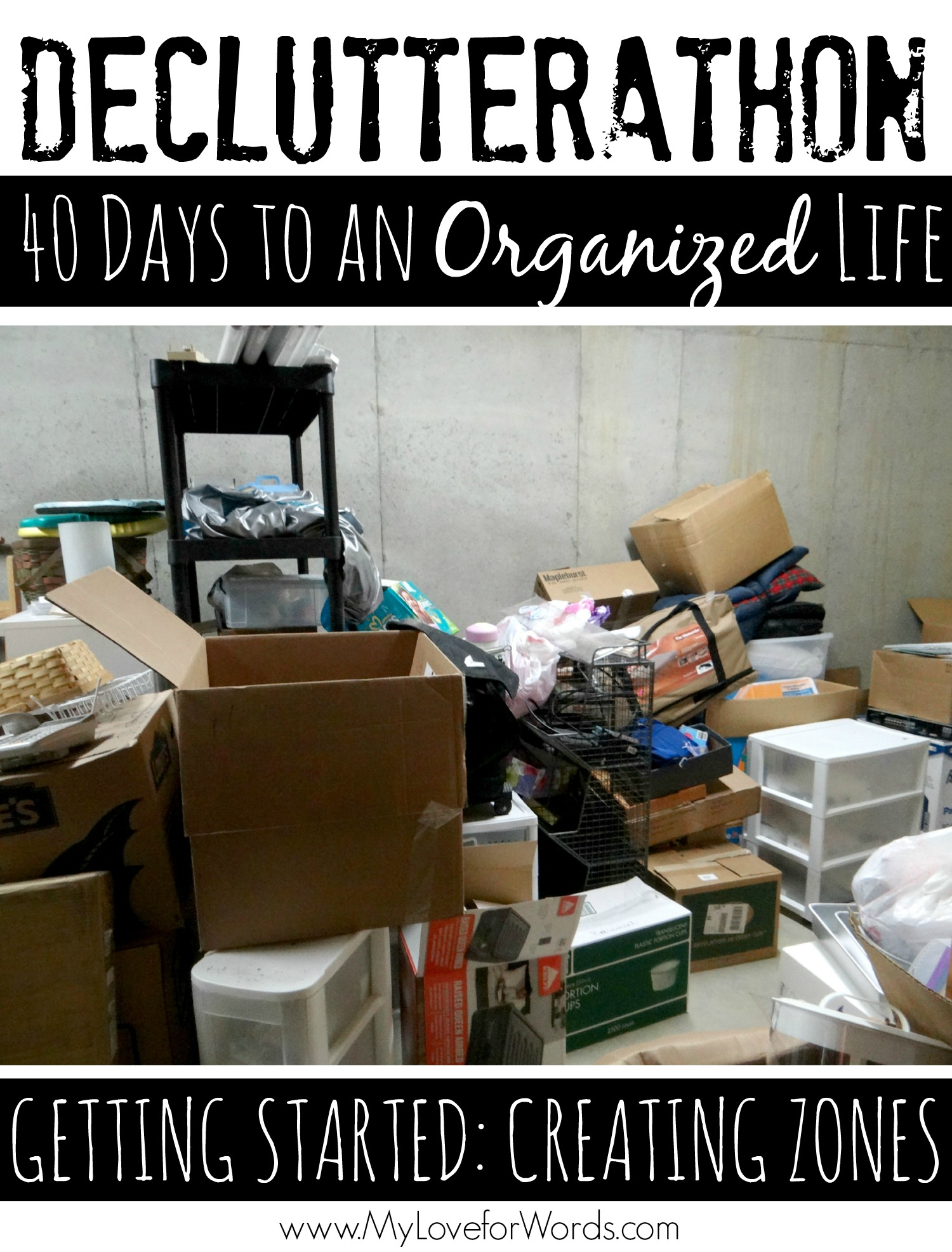 Declutterathon: Getting Started with 40 Bags in 40 Days #40Bagsin40Days #Declutterathon