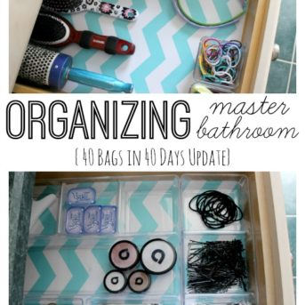 Organizing the Master Bath for 40 Bags in 40 Days