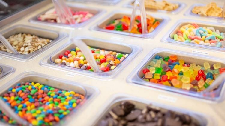 candy ice cream toppings