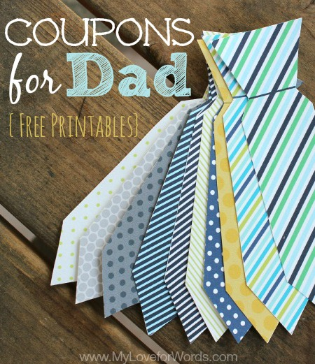 Give dad a tie he really wants this year with these free printable coupons for dad.