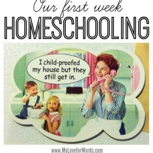 Our first week homeschooling
