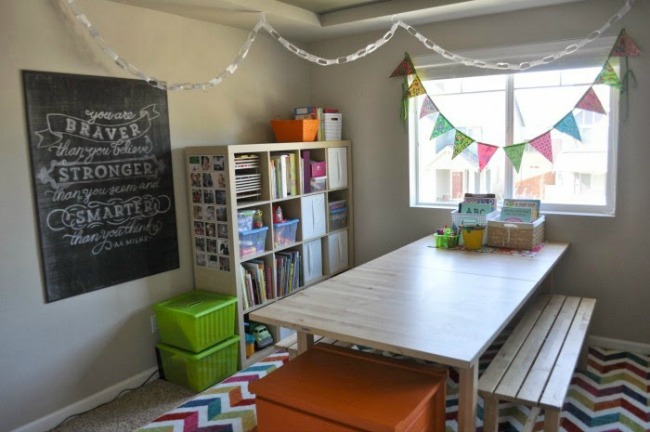 Inspiring homeschool rooms for Home school room ideas