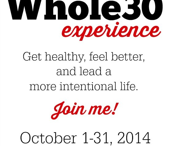 Taking the Whole30 challenge to have a healthier, more intentional life!