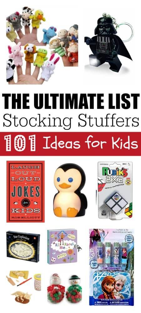 Ultimate Stocking Stuffers List 101 Ideas for Kids