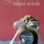Gingerbread sugar scrub recipe and free printable label