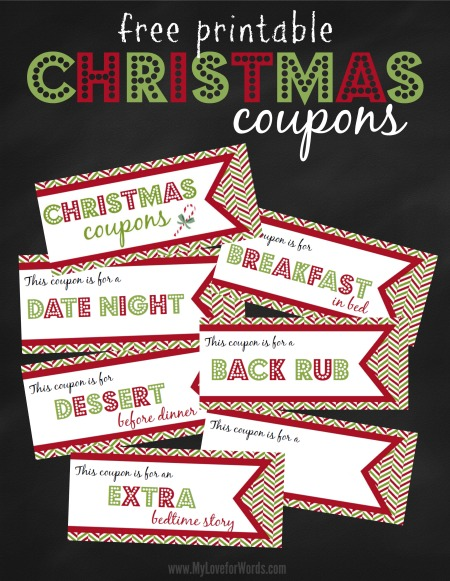 20 free printable christmas coupons