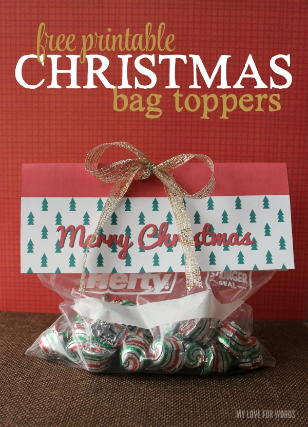 image relating to Christmas Bag Toppers Free Printable called Totally free printable Xmas bag toppers