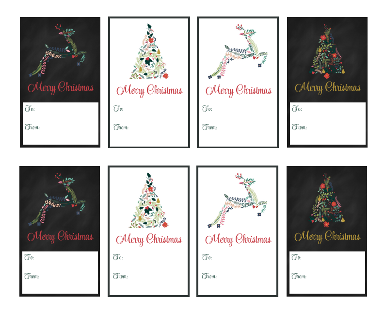 image about Free Printable Christmas Name Tags called No cost Printable Xmas Present Tags