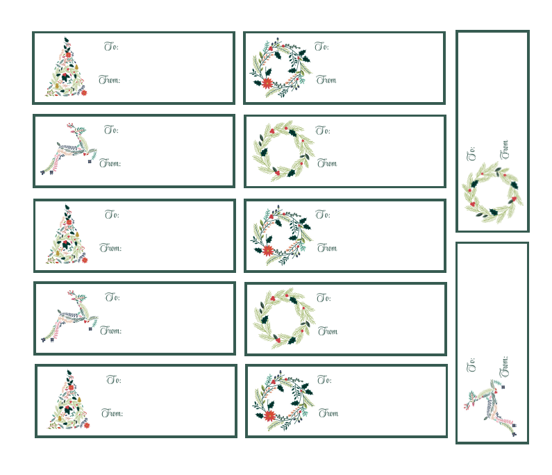 image about Free Printable Christmas Name Tags titled Cost-free Printable Xmas Reward Tags