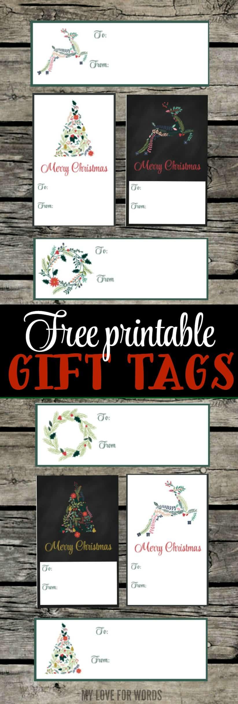 printable christmas gift tags vertical image