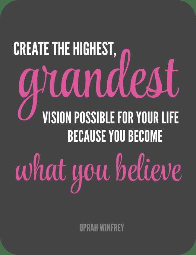 Declutterathon grandest vision quote rounded